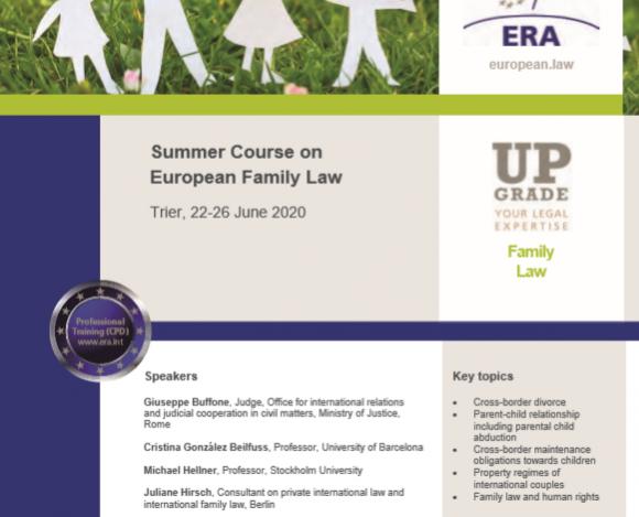 лятно училище по европейско семейно право – триер, германия
