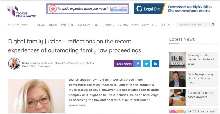 Електронно правосъдие по семейни дела – нова статия на адв. Русинова